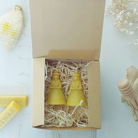 Candle Gift Set - Beeswax - Welsh Ladies