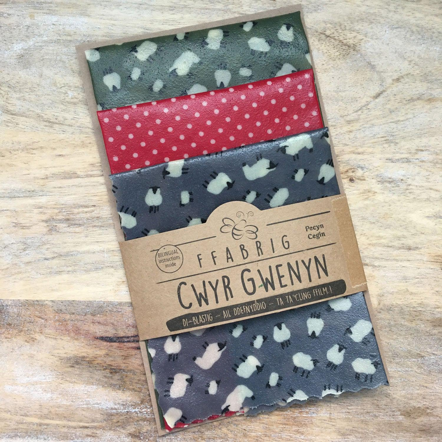 Beeswax Wraps - Kitchen Pack - Welsh Sheep