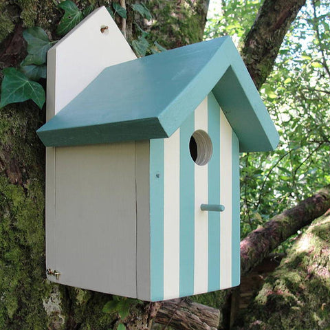 Bird House - Handmade in Wales - Beach Hut-Bird House-The Welsh Gift Shop