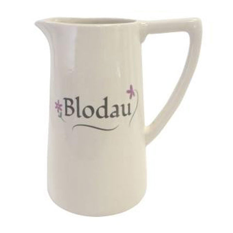 Jug / Vase - Flowers - Blodau - Extra Large-The Welsh Gift Shop