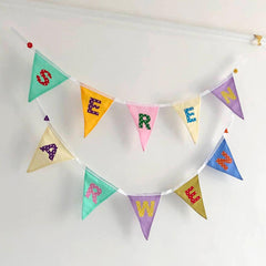 Bunting - Personalised Name - Rainbow