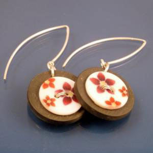 Earrings - Welsh Slate - Button Earrings