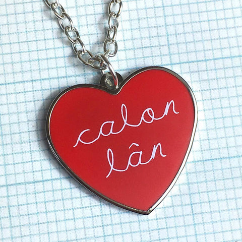 Necklace - Calon Lan - Pure Heart - Enamel