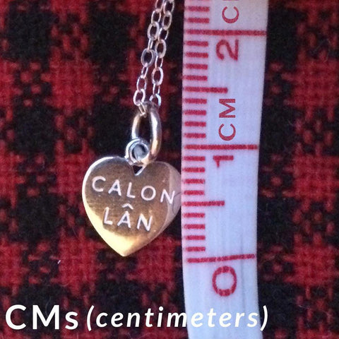 Mini Pendant  / Charm - Calon Lan - Sterling Silver or Gold Plated