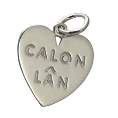 Pendant - Calon Lan - Large - Sterling Silver or Gold Plated-Jewellery-The Welsh Gift Shop