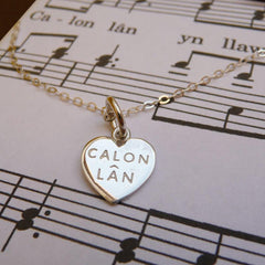 Mini Pendant / Charm - Calon Lan - Sterling Silver or Gold Plated-Jewellery-The Welsh Gift Shop