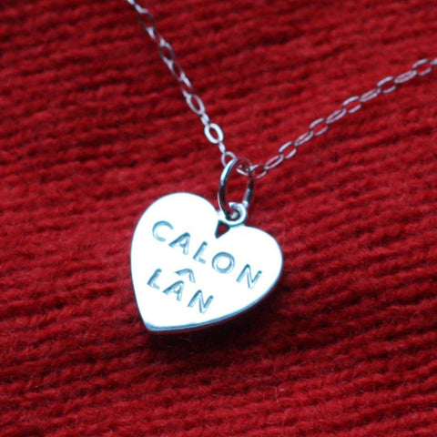 Pendant - Calon Lan - Large - Sterling Silver or Gold Plated