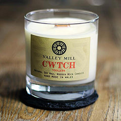 Soy Candle & Coaster - Handmade - Cwtch