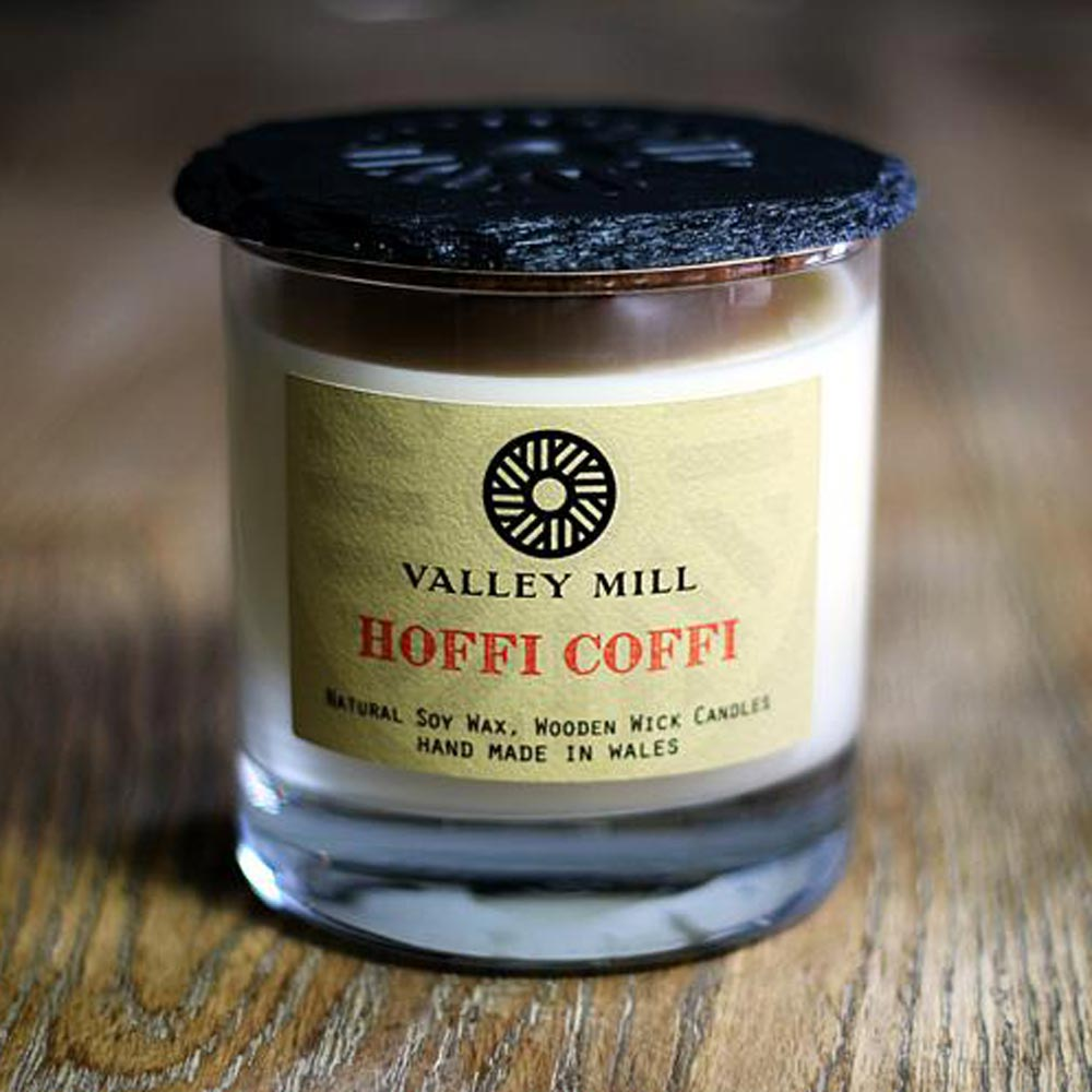 Soy Candle & Coaster - Handmade - Hoffi Coffi-Candle-The Welsh Gift Shop