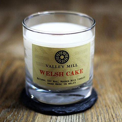Soy Candle & Coaster - Handmade - Welsh Cakes