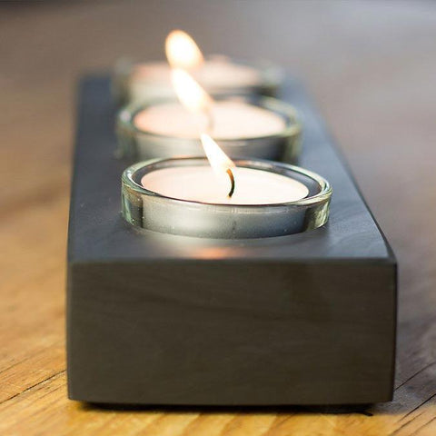 Candle Holder - Welsh Slate - Tea Lights-Accessory-The Welsh Gift Shop