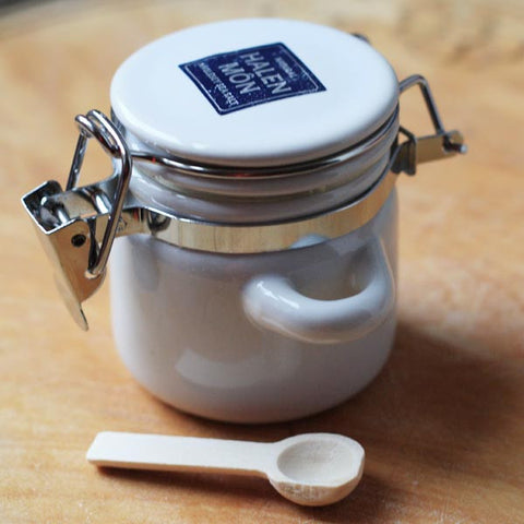 Halen Mon Salt - Mini Ceramic Canister Jar - Roasted Garlic