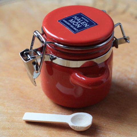 Halen Mon Salt - Mini Ceramic Canister Jar - Chilli & Garlic