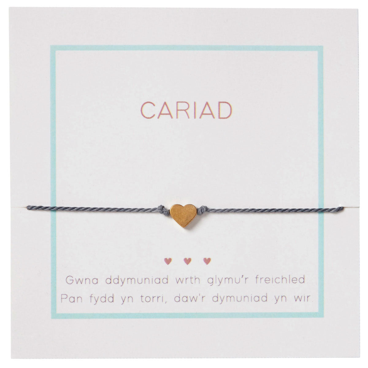 Charm / Friendship Bracelet - Love / Cariad