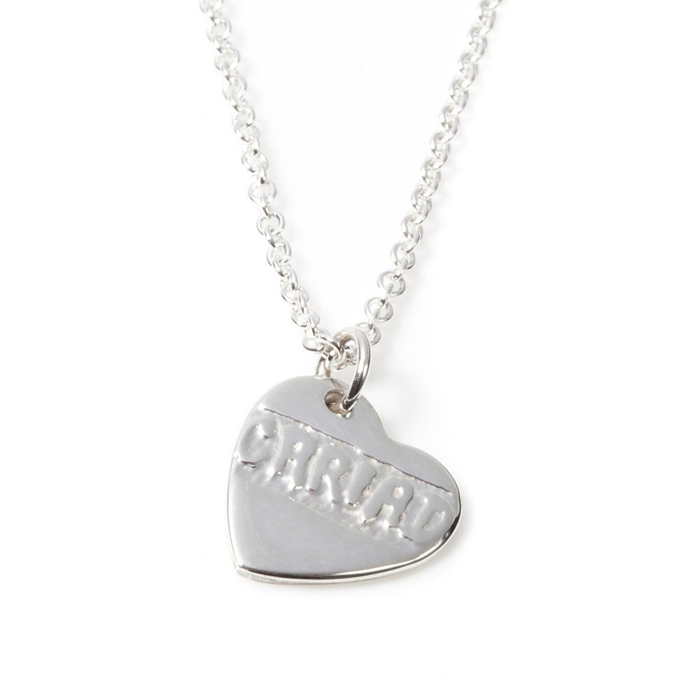Necklace - Silver Heart - Cariad - Love