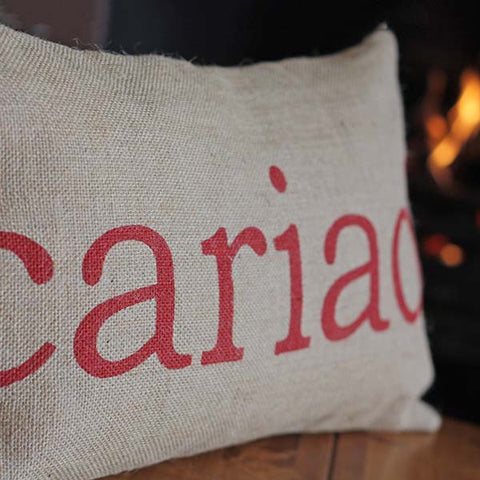 Cushion - Welsh - Cariad / Love