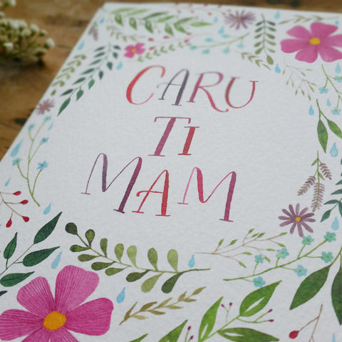 Card - Caru Ti Mam - Love you Mum