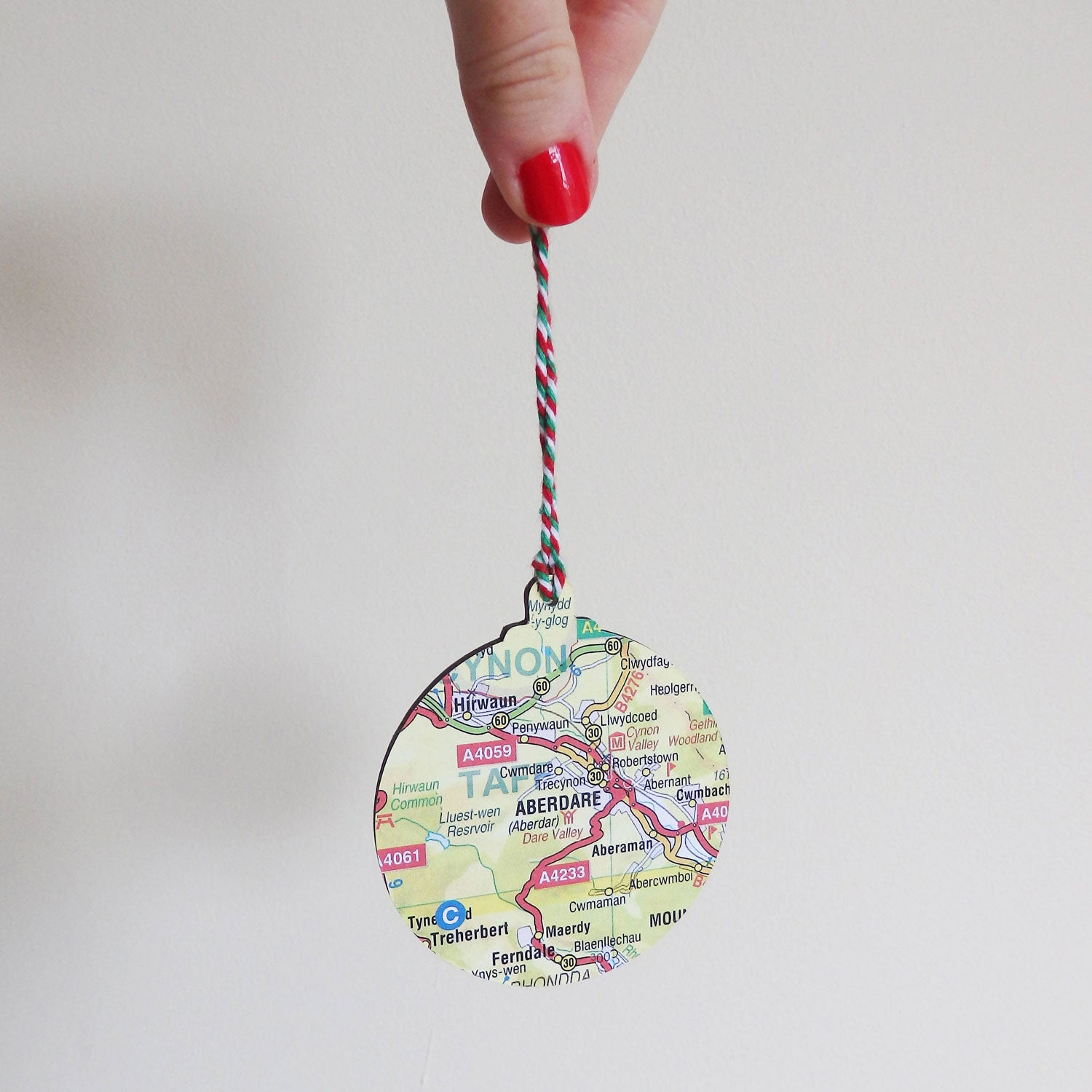 Christmas Decoration - Welsh Map - Choose your Location-The Welsh Gift Shop