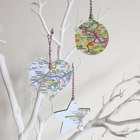 Christmas Decoration - Welsh Map - Choose your Location
