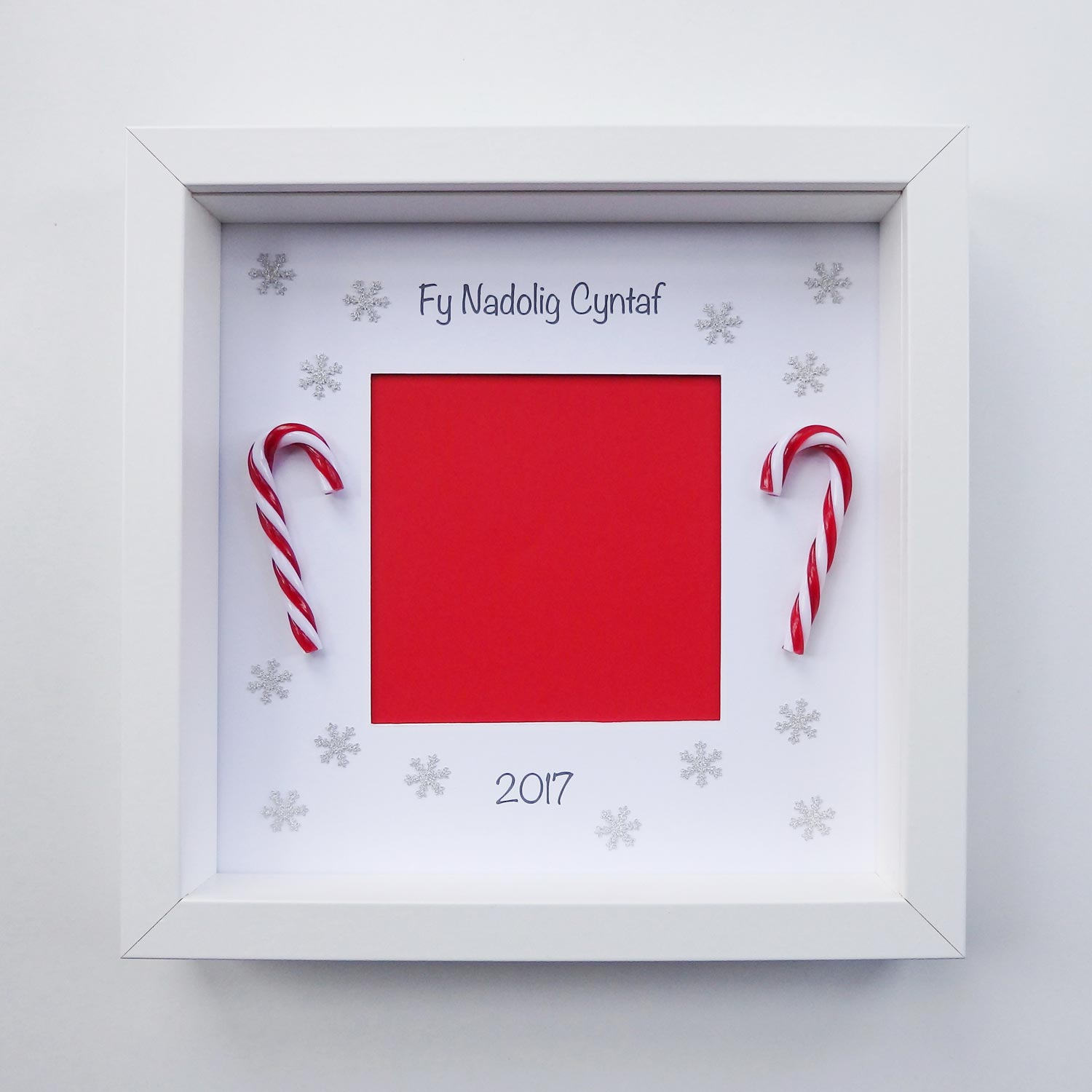 Photo Frame - Fy Nadolig Cyntaf / Teulu - Personalised-Picture / SIgn-The Welsh Gift Shop