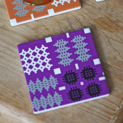 Coasters - Welsh Tapestry Print - Various Colours