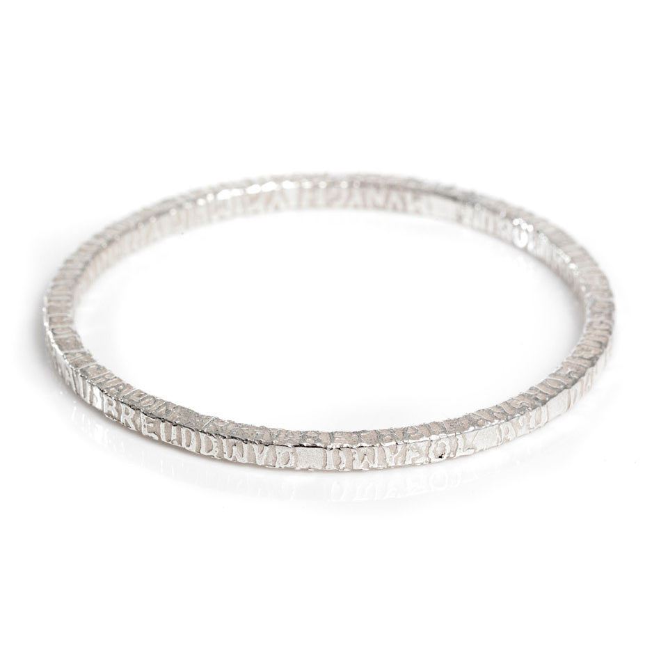 Bangle - Silver - Cofio - Remember-Jewellery-The Welsh Gift Shop