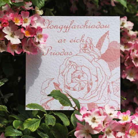 Card - Llongyfarchiadau / Congratulations - Wedding-Card-The Welsh Gift Shop