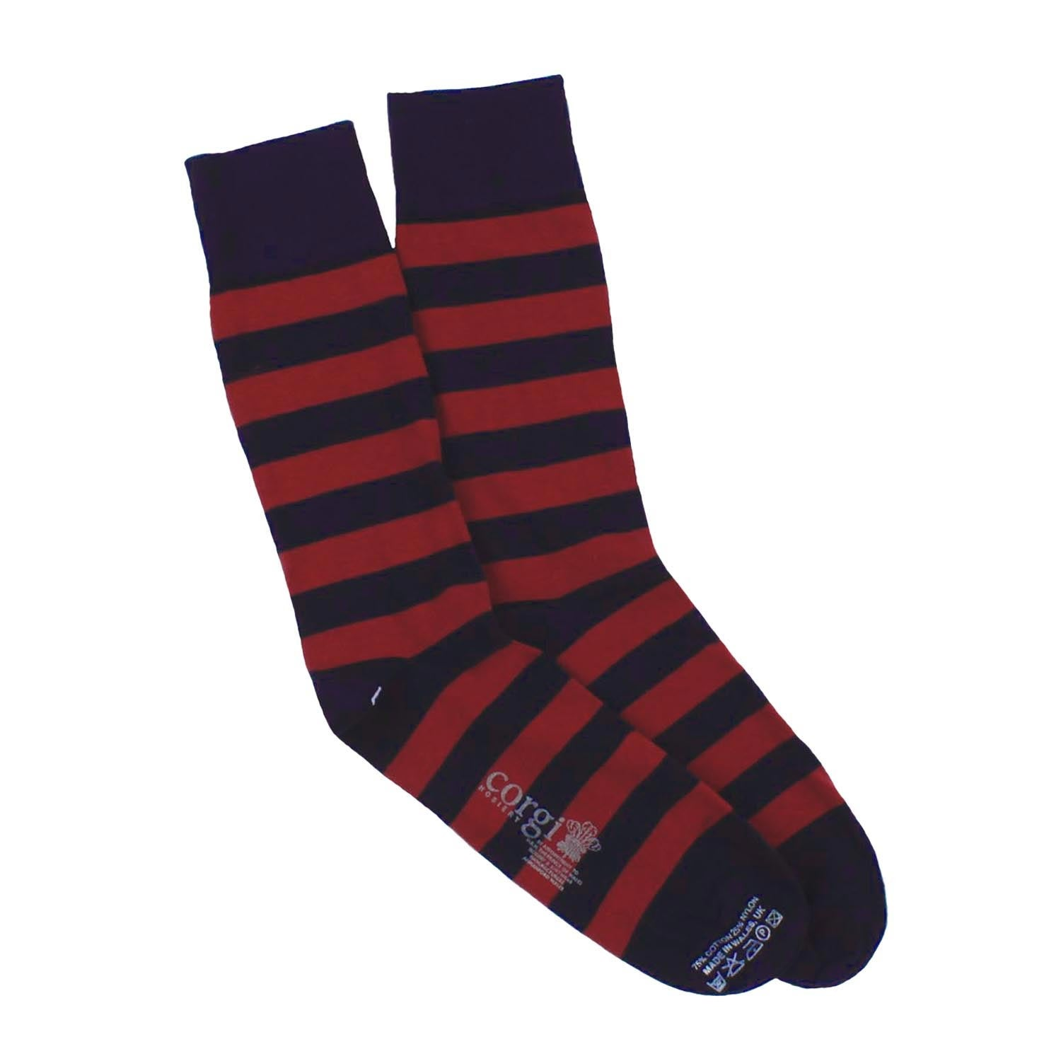 Corgi Socks - Welsh Guards - Mens-socks-The Welsh Gift Shop