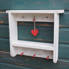 Country Cottage Wall Shelf - Welsh - Distressed-Bird House-The Welsh Gift Shop