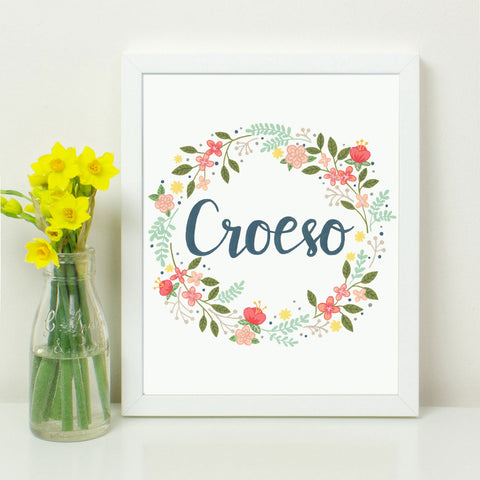 Print - Welsh - Welcome - Croeso-Picture / SIgn-The Welsh Gift Shop