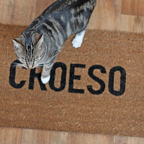 Door Mat - Welsh - Croeso - Welcome