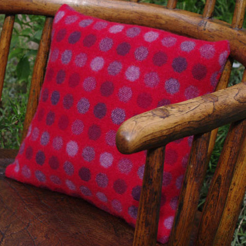 Cushion - Melin Tregwynt - Mondo Red Berry