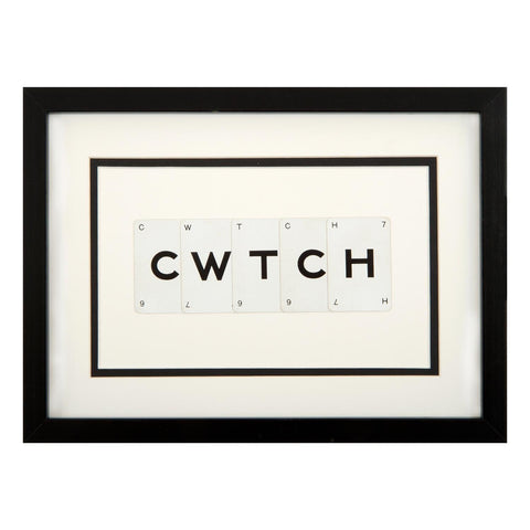 Picture - Vintage Playing Cards - Cwtch / Cuddle-Picture / SIgn-The Welsh Gift Shop