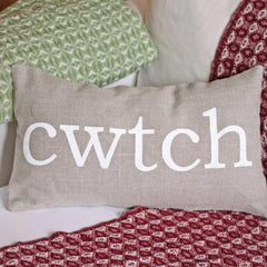 Cushion Cover - Welsh - Cwtch - Linen