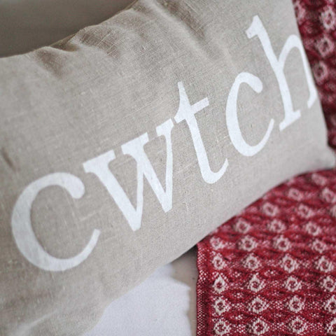Cushion - Welsh - Cwtch - Linen