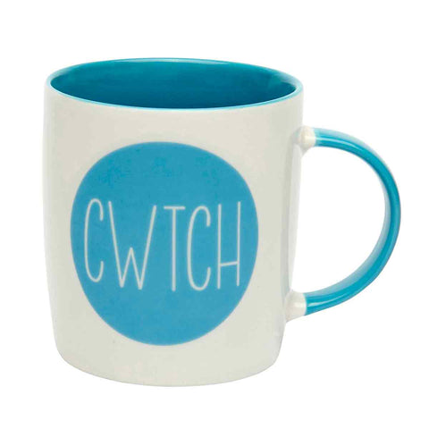 Mug - Blue - Cwtch - Cuddle / Hug