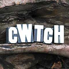 Cwtch - Letterpress - Wooden Blocks