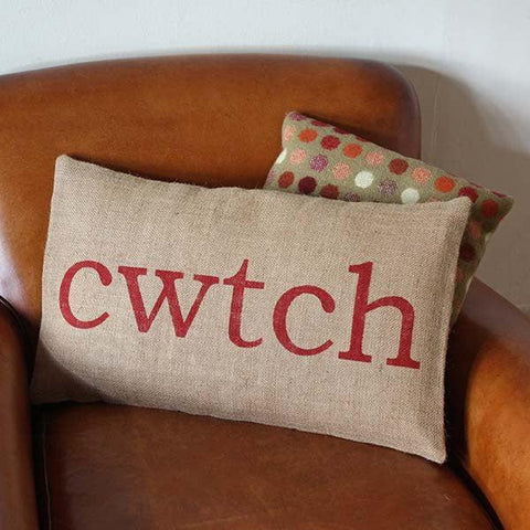 Cushion Cover - Burlap - Cwtch / Cwtsh