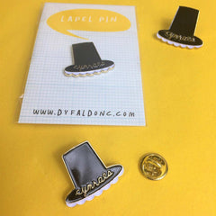 Lapel Pin / Brooch - Welsh Lady Hat - Cymraes