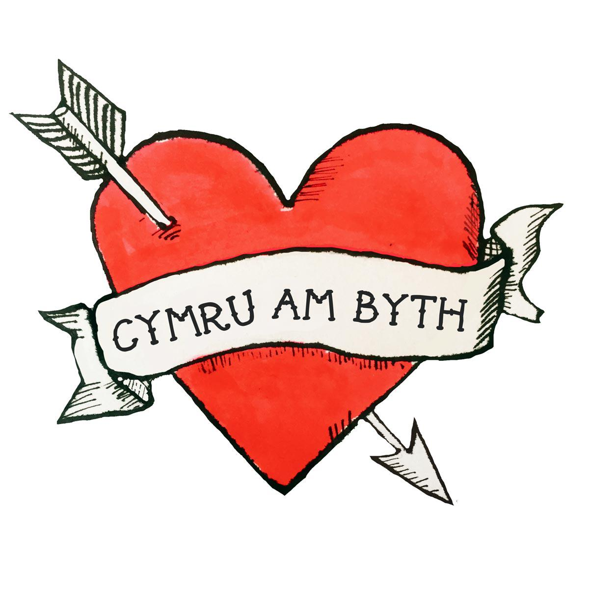 Card - Cymru am Byth - Wales Forever - St. David's Day-Card-The Welsh Gift Shop