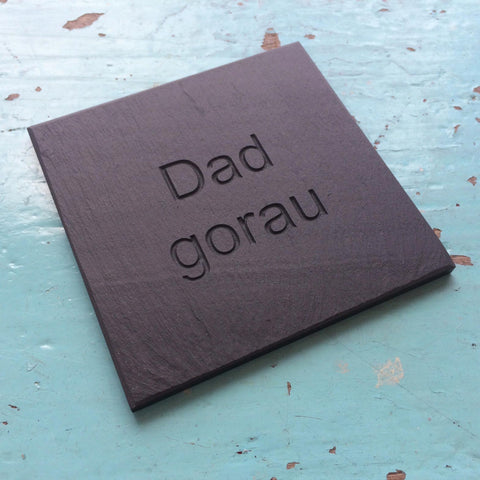 Coaster - Welsh Slate - Father's Day-Kitchen-The Welsh Gift Shop