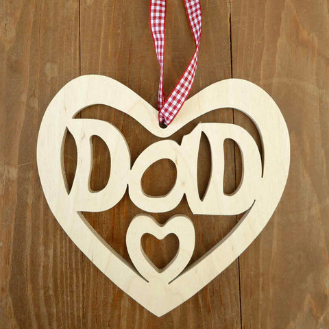 Decoration / Plaque - Dad - Wooden