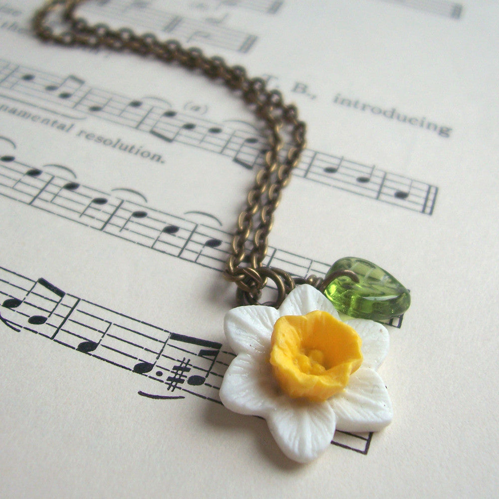 Necklace - Handmade - Daffodils-Jewellery-The Welsh Gift Shop
