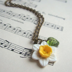 Necklace - Handmade - Daffodils