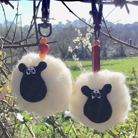 Keyring - Sheep - Pure Wool
