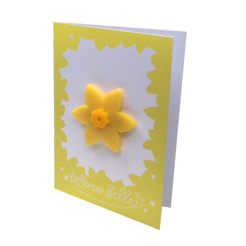 Brooch / Pin - Welsh Daffodil - Acrylic-Jewellery-The Welsh Gift Shop
