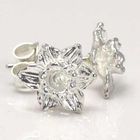 Earrings - Welsh Daffodils - Sterling Silver