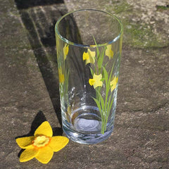 Tall Tumbler - Welsh Daffodils - Handpainted