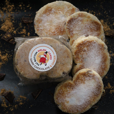 Welsh Cakes - Fat Bottom - Dark Chocolate & Ginger (1st Class Postage Included)