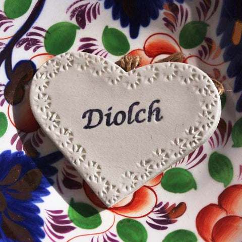 Heart Decoration - Diolch / Thank You